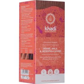 Coloration naturelle aux plantes Henné Amla & Jastropha cuivré - 100 gr - Khadi
