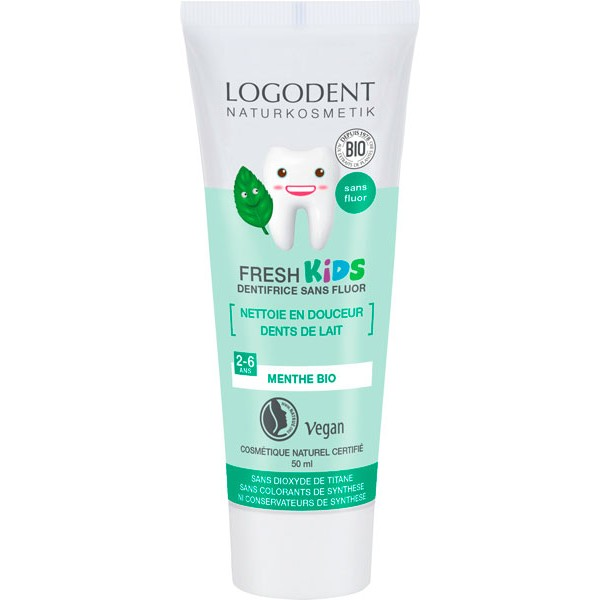 Dentifrice à la Menthe enfants Fresh Kids – 50 ml - Logona