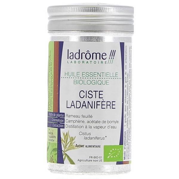 Ciste ladanifère Bio - Rameau feuillé - 10 ml - Huile essentielle Ladrôme - Vue 1