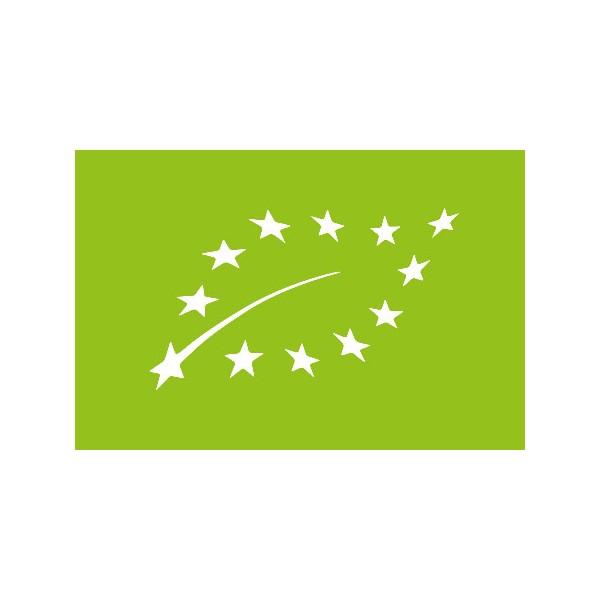 Logo Eurofeuille, logo bio européen pour l'huile essentielle de cajeput Ladrôme