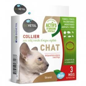 Collier insectifuge pour chat au géraniol - Biovétol