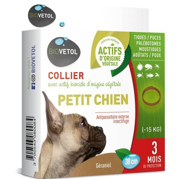 Collier insectifuge au géraniol pour petit chien - Biovétol