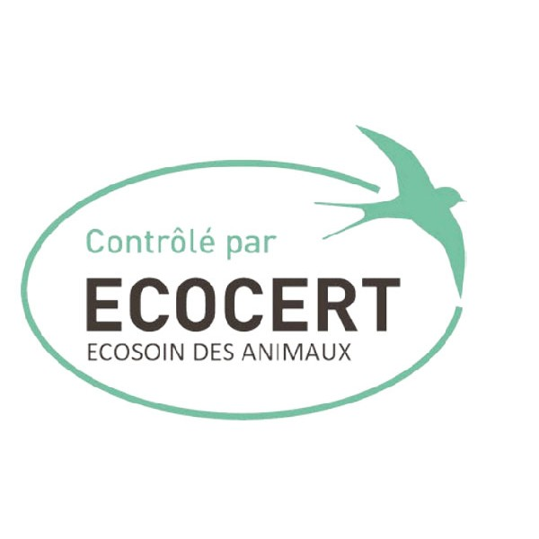 Logo Ecocert Ecosoin des animaux pour les pipettes insectifuge Bio pour chiot et petit chien - Biovétol