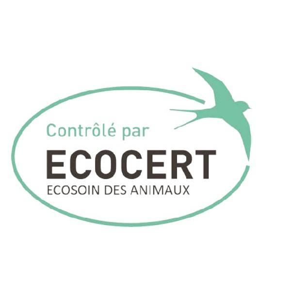 Logo Ecocert Ecosoin des animaux pour les pipettes insectifuge Bio pour grand chien - Biovétol