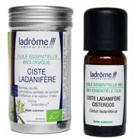Ciste ladanifère Bio - Rameau feuillé - 10 ml - Huile essentielle Ladrôme