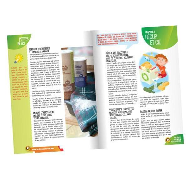 """Exemple de page du cahier """"Cahier 468 Trucs, astuces et recettes écolo pour la maison"""""""