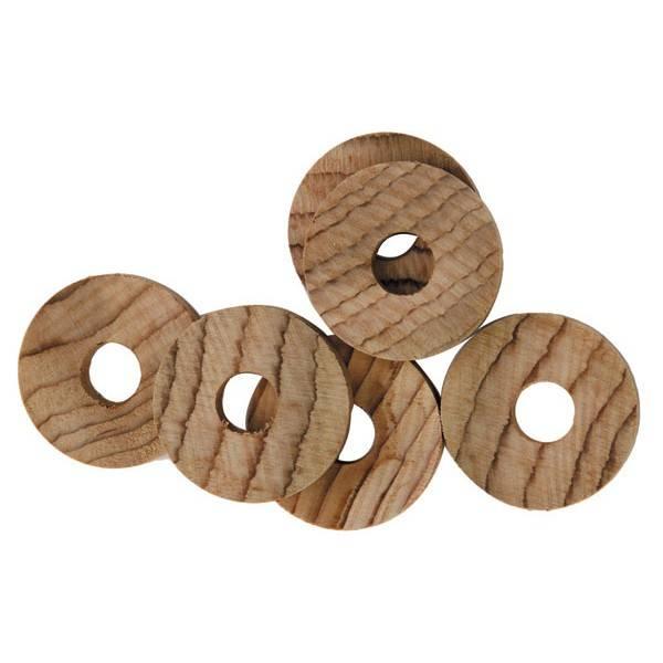 6 jetons en bois de cèdre (anti-mites) - La Droguerie écologique