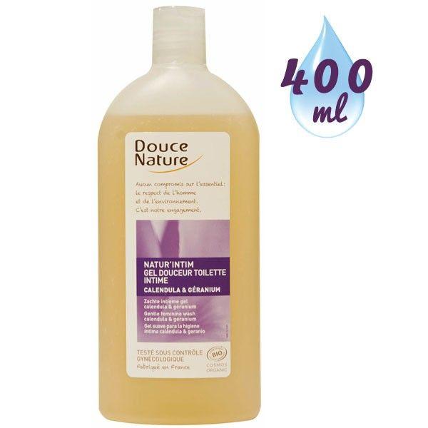 Gel douceur toilette intime Natur'intim Calendula bio et huile essentielle de géranium bio – 400 ml - Douce Nature