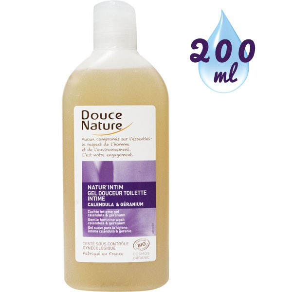 Gel douceur toilette intime Natur'intim Calendula bio et huile essentielle de géranium bio – 200 ml - Douce Nature