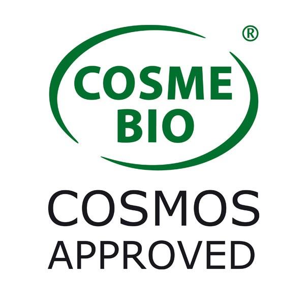 Logo Cosmebio pour la poudre de noyaux d'abricot bio Cosmo Naturel