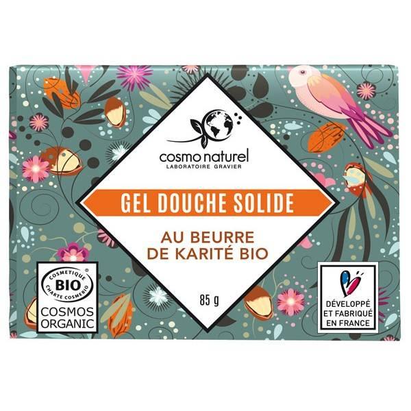 Gel douche solide beurre de karité bio - 85 grs - Cosmo Naturel