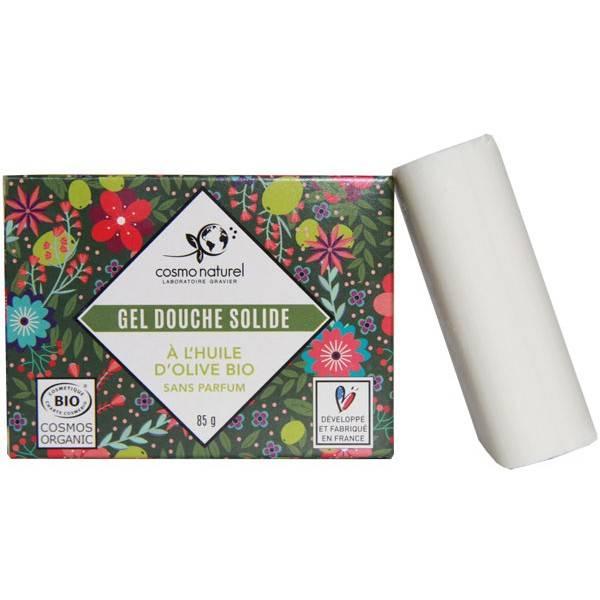 Gel douche solide Huile d'olive bio sans parfum - 85 grs - Cosmo Naturel - Vue 2