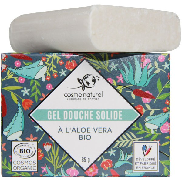 Gel douche solide Aloe vera bio - 85 grs - Cosmo Naturel - Vue 1