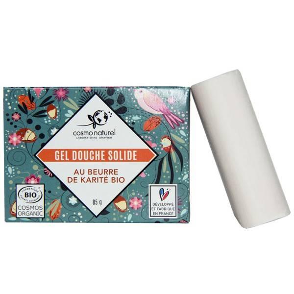 Gel douche solide beurre de karité bio - 85 grs - Cosmo Naturel - Vue 2