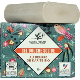 Gel douche solide beurre de karité bio - 85 grs - Cosmo Naturel - Vue 1