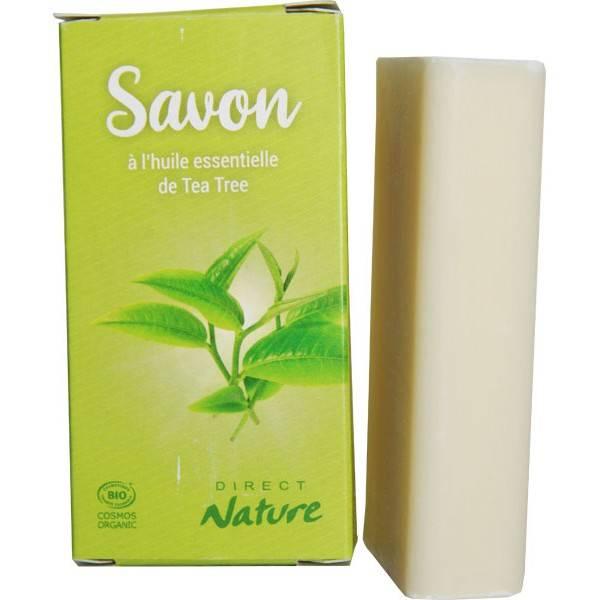 Savon à l'huile essentielle de Tea tree - 100 gr - Direct Nature - Vue 1