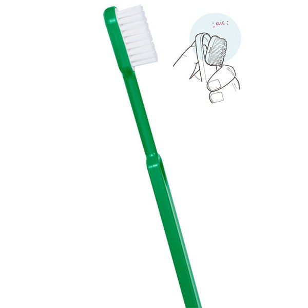 Brosse à dents rechargeable verte Caliquo