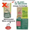 Evolution du packaging pour le Blanc de Meudon La Droguerie Ecologique