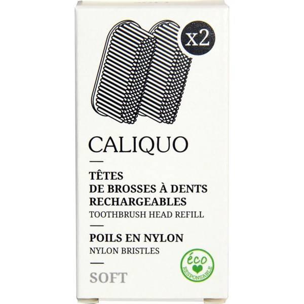 Lot de 2 recharges pour brosse à dents souples - Caliquo - Vue 1