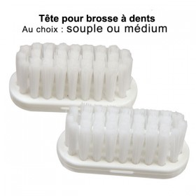 Lot de 2 recharges pour brosse à dents - Souples ou Médium - Caliquo
