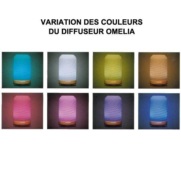 Variation de couleurs pour le diffuseur ultrasonique OMELIA - 60 m²