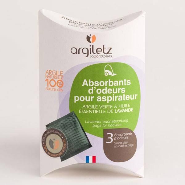 Absorbants d'odeurs pour aspirateur argile et lavande - x3 sachets – Argiletz
