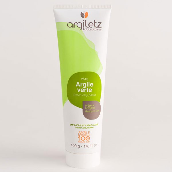 Tube argile verte prêt à l'emploi - 400 grs - Argiletz