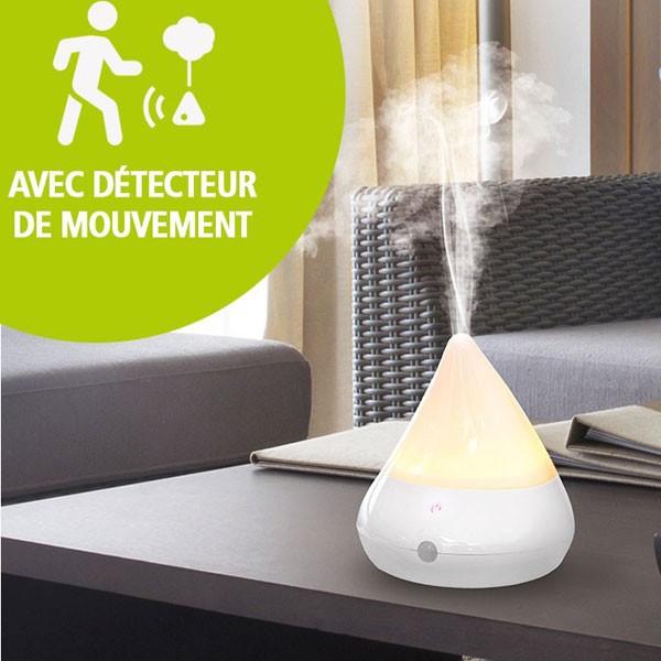 Brumisateur & diffuseur Mouvéa bois blanc - 30 m²