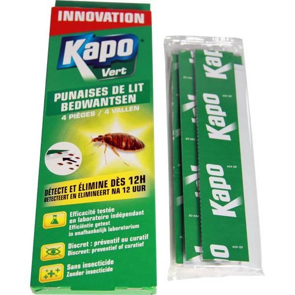 Pièges à punaises de lit x4 - Kapo Vert - vue d'ensemble