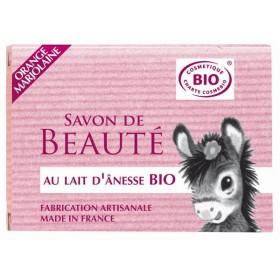 Savon Bio de beauté au lait d'Ânesse parfumé aux huiles essentielles d'orange et marjolaine – 100 gr – Cosmo Naturel