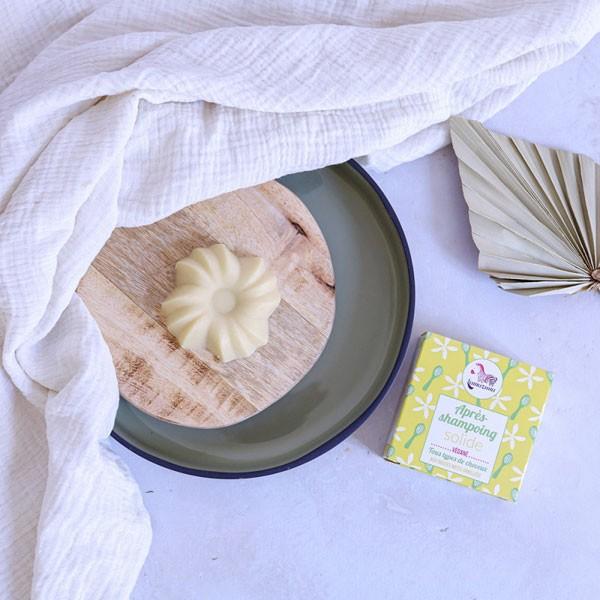 Après shampooing solide bio vanille - Lamazuna - image ambiance 3