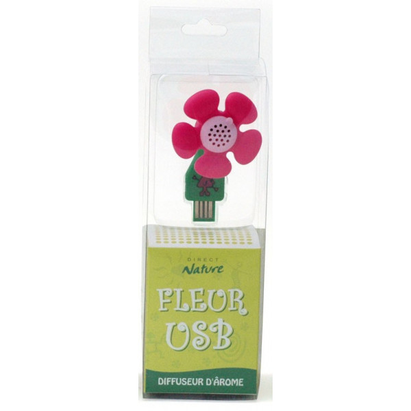 Diffuseur d'arôme fleur USB - modèle rose - Direct Nature