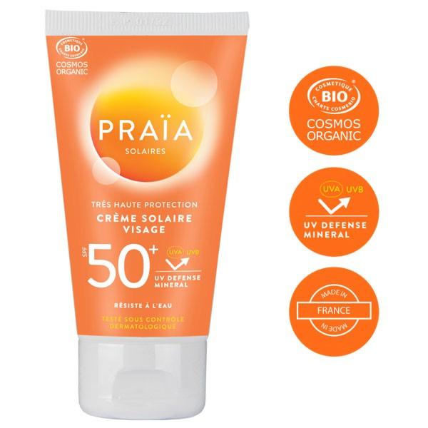 Crème solaire visage SPF50+ - 50 ml - Praïa Solaires