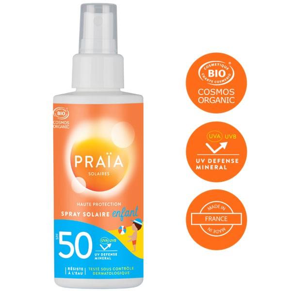 Spray solaire enfant SPF 30 visage et corps - sans parfum - 100 ml – Praïa Solaires