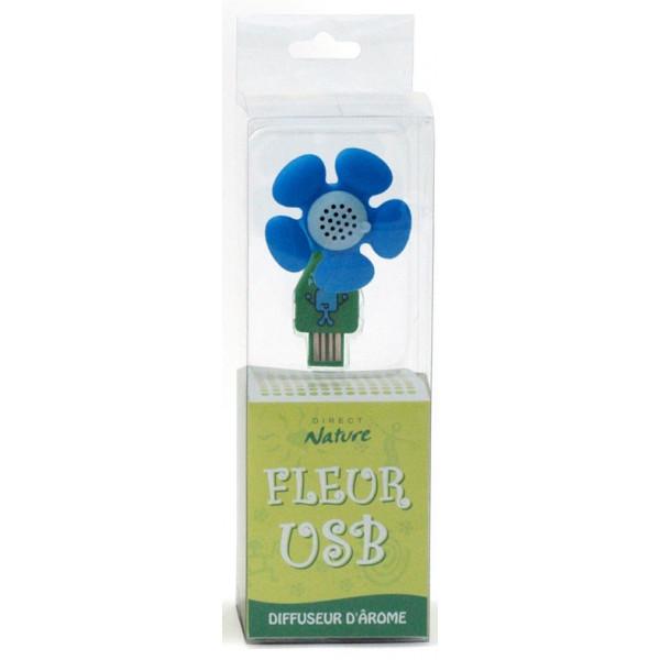 Diffuseur d'arôme fleur USB - modèle bleu - Direct Nature