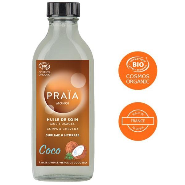 Huile de soin multi-usages au coco - 100 ml - Praïa Monoï