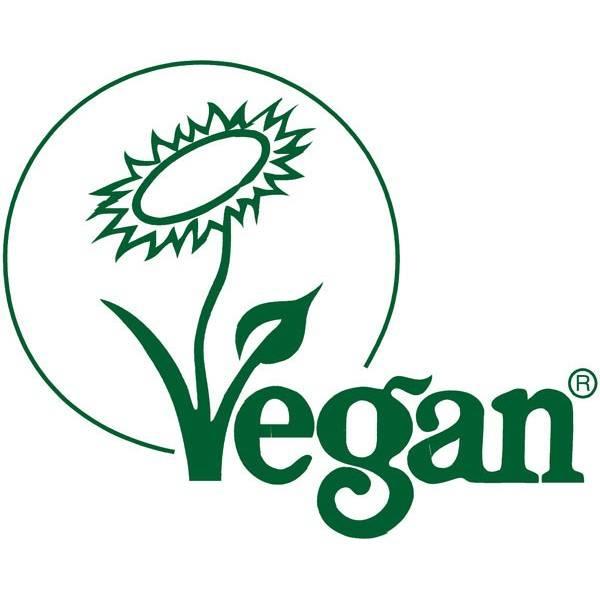 Logo Vegan pour la crème de douche Fleur de Cerisier bio et Abricot bio