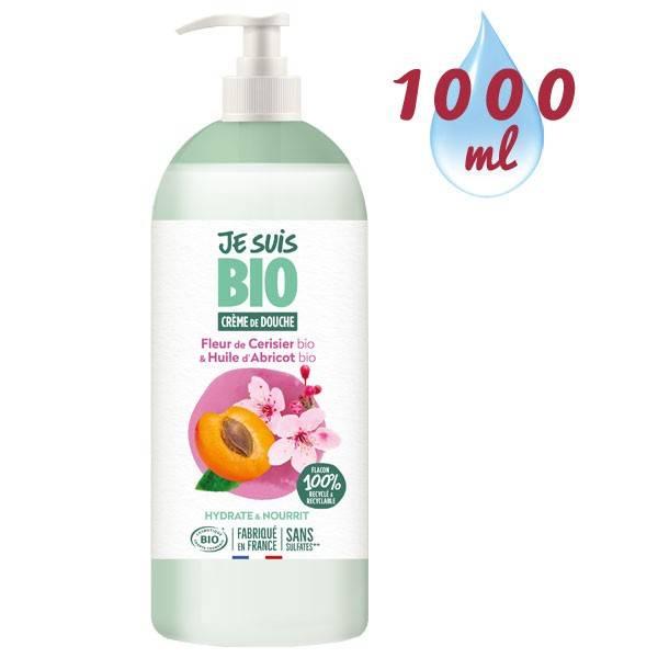 Crème de douche Fleur de Cerisier bio et Abricot bio - 1 litre - Je suis Bio