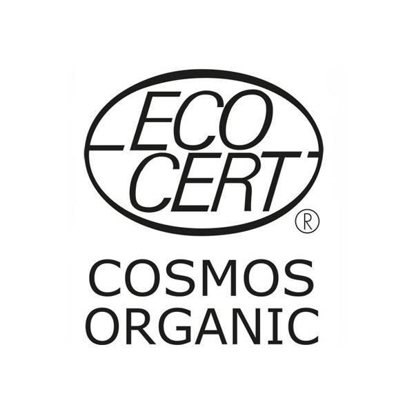 Logo Cosmos Organic pour la crème de douche Fleur de Cerisier bio et Abricot bio