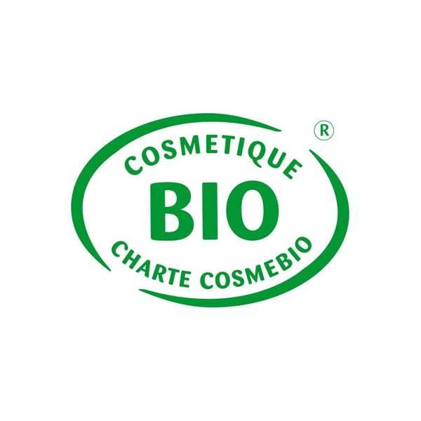 Logo Cosmebio pour la crème de douche Fleur de Cerisier bio et Abricot bio