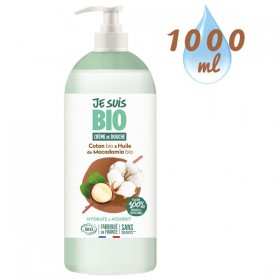 Crème de douche Coton Macadamia bio - 1 litre - Je suis Bio