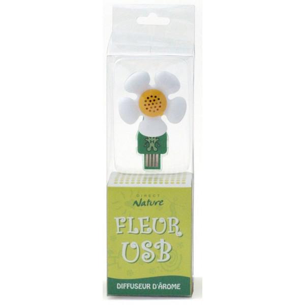 Diffuseur d'arôme fleur USB - modèle blanc - Direct Nature