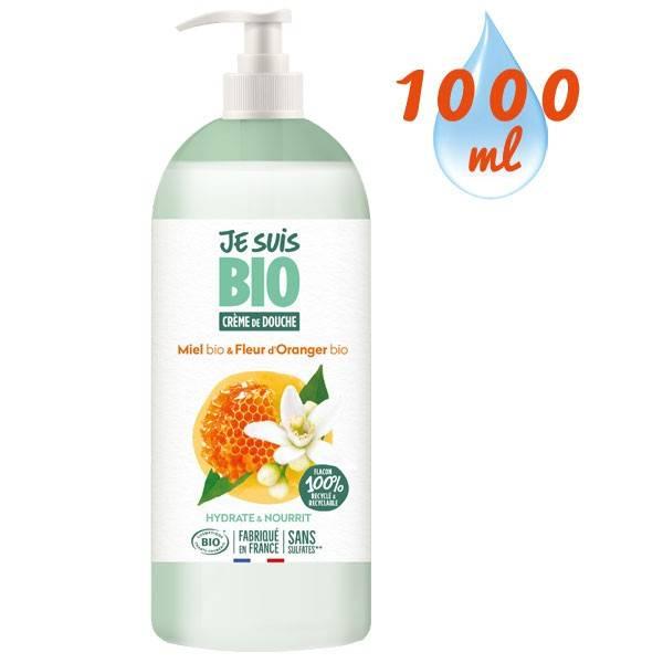 Crème de douche Miel Fleur d'Oranger bio - 1 litre - Je suis Bio