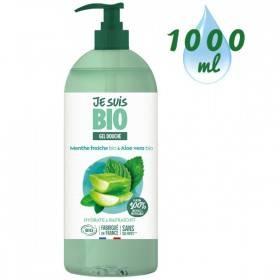 Gel douche Menthe fraîche bio et Aloe vera bio - 1 litre - Je suis Bio