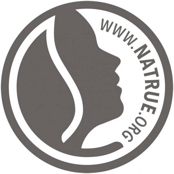 Logo Natrue pour le baume apaisant après-piqûre famille Amande Karité Lavande Aries