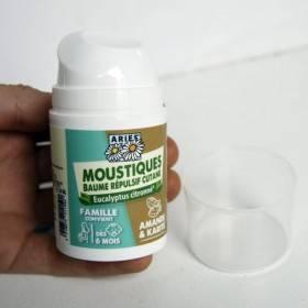 Baume répulsif cutané moustiques Amande Karité Eucalyptus citronné - 50 ml - Aries