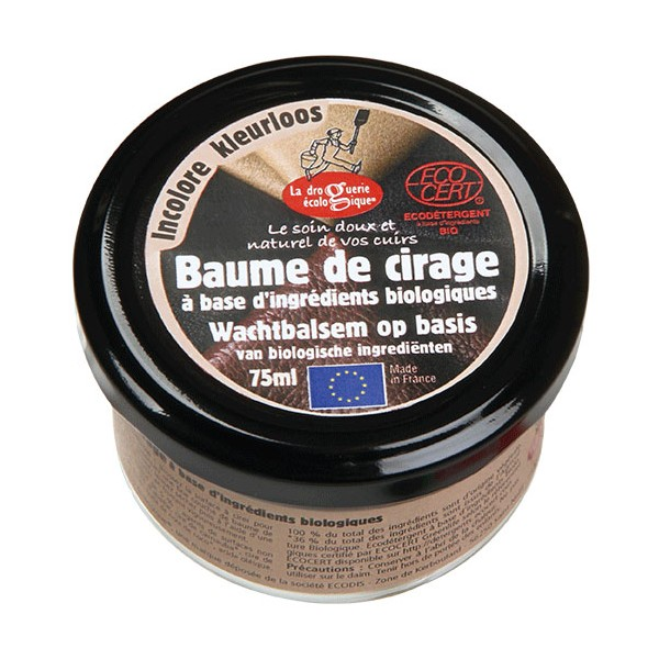 Baume de cirage incolore – 75 ml – La Droguerie Écologique
