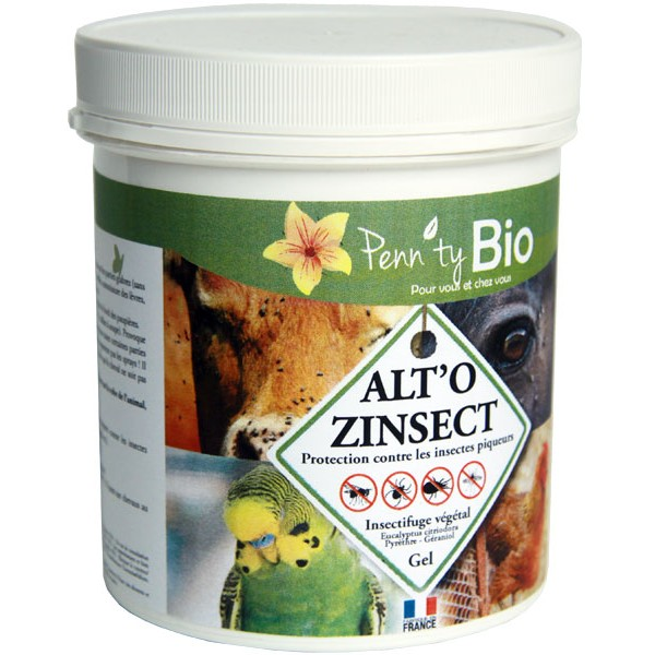 ALTO'ZINSECT gel - Insectifuge pour chevaux, poneys et autres animaux – 500 ml – Penntybio - Vue 1