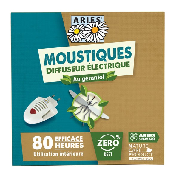 Diffuseur électrique anti-moustiques au géraniol - Aries - Vue de face
