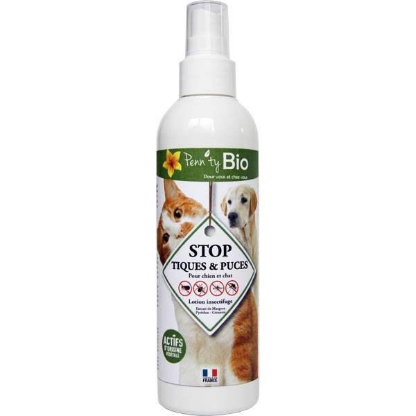 STOP puces et tiques chien et chat - Lotion - 250 ml - Penntybio